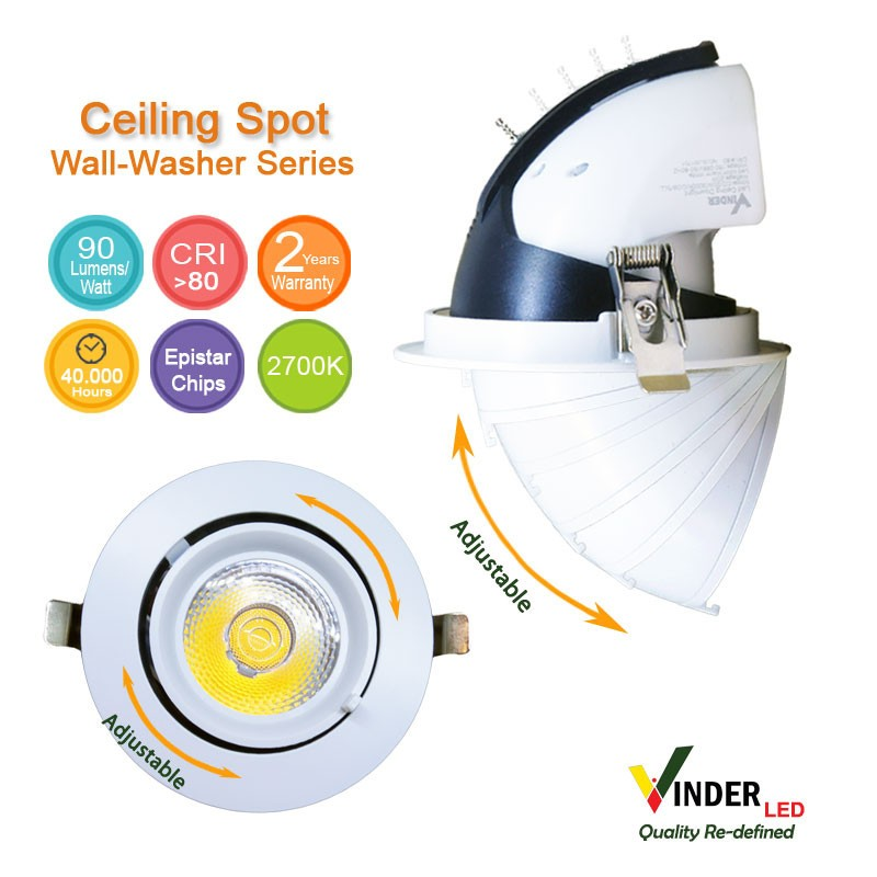 NEW ARRIVAL Vinder Ceiling Spot Downlight 20W - Wall Washer series jual lampu led, strip ...