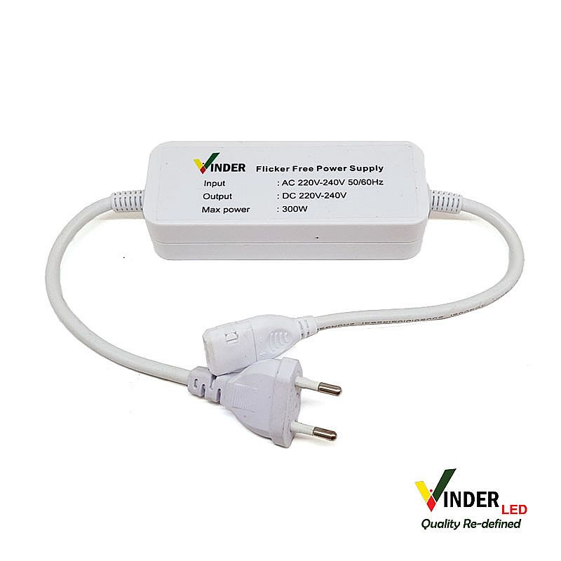 Plug In 220V untuk Vinder Strip Selang 220V - Flicker Free Version