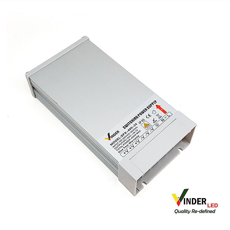 Vinder Rain Proof Power Supply 24V DC 16A 400W - High Quality