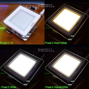 Downlight Panel 6W 3in1 Color Square - HoT Sale