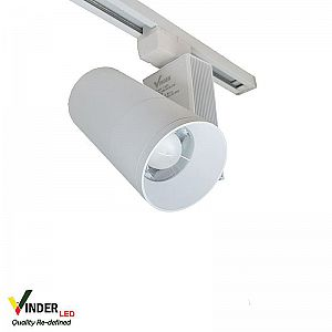 Vinder Track Light Adjustable Beam Angle 40W AC220V - White Body