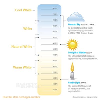Warna Warna Yang Tersedia Untuk Lampu Led Jenis Bohlam Tl Led Strip Warna Warm White Natural White Cool White Dll